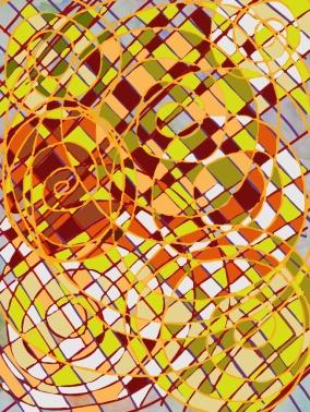 "Spirals - Yellow - 8"" x 10"" digital print"